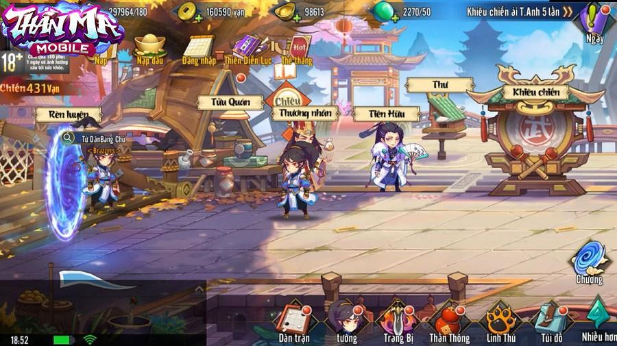 Không hổ danh game thẻ tướng tiên hiệp hoàn mỹ, Thần Ma Mobile cho phép người chơi di chuyển tự do khắp bản đồ - Ảnh 4.
