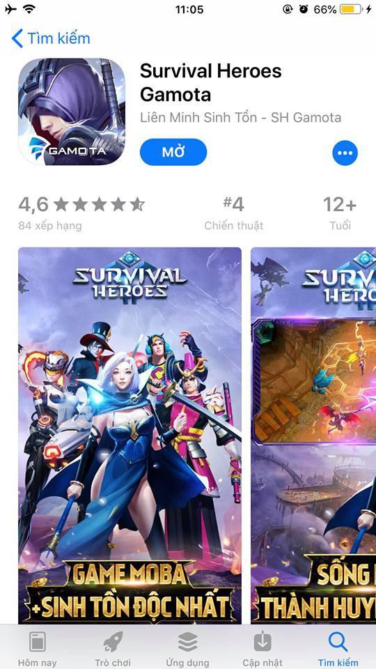 """Độ Mixi ra tay, Survival Heroes ngay lập tức leo Top """"ầm ầm"""" trên App Store và Google Play - Ảnh 2."""