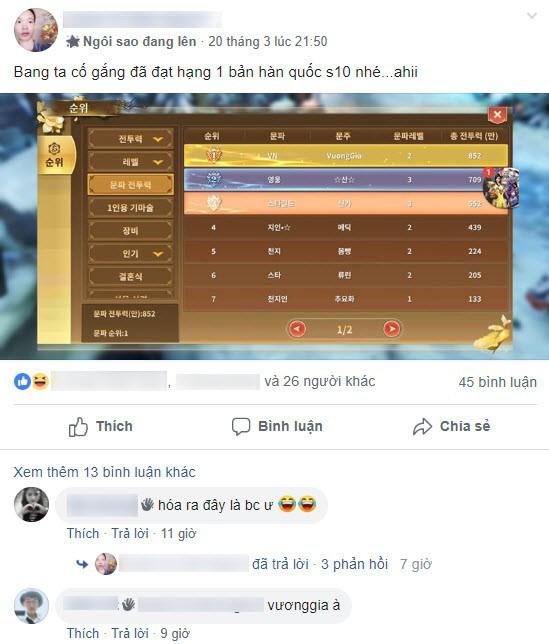 """Cộng đồng Thục Sơn Kỳ Hiệp Mobile """"tố"""" game thủ Hàn phân biệt sắc tộc, đua Top thua nên chửi đổng và miệt thị người Việt - Ảnh 6."""