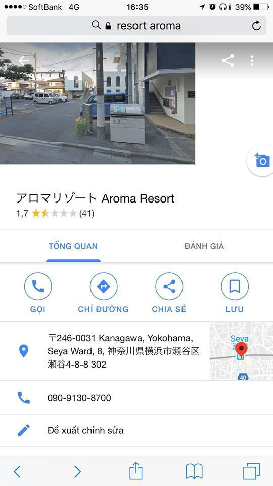 Sau vụ cô lễ tân, cộng đồng mạng lại kéo sang report Aroma resort tận bên Nhật dù chẳng liên quan - Ảnh 2.