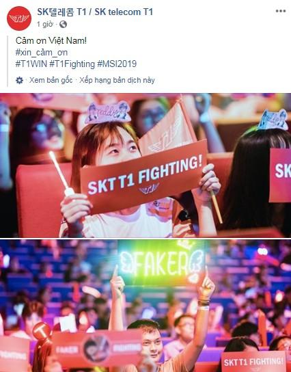 LMHT: Fan Việt quá cuồng nhiệt, trang chủ SKT T1 liên tục gửi lời cảm ơn tới game thủ nước chủ nhà - Ảnh 1.