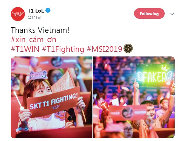 LMHT: Fan Việt quá cuồng nhiệt, trang chủ SKT T1 liên tục gửi lời cảm ơn tới game thủ nước chủ nhà - Ảnh 2.