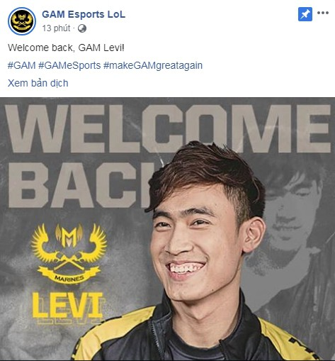 LMHT: Levi CHÍNH THỨC trở lại khoác áo GAM Esports! - Ảnh 2.