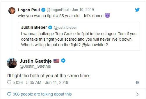 Justin Bieber gạ đấm nhau với Tom Cruise, Paul Logan vào can ngăn cũng bị dọa cho ăn đòn - Ảnh 2.