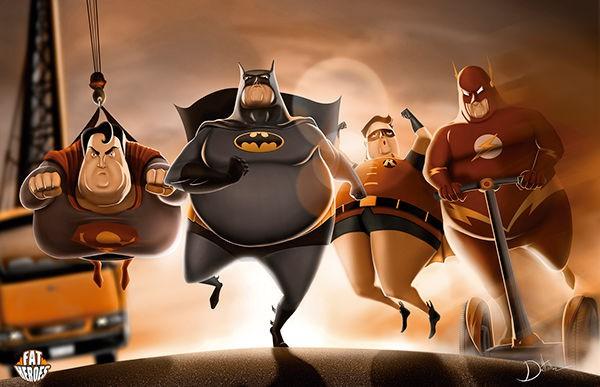 Chết cười khi phong cách của Thor Béo nhập vào các siêu anh hùng khác, tạo ra một vũ trụ Fat Heroes - Ảnh 12.