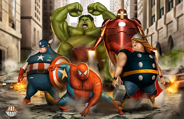 Chết cười khi phong cách của Thor Béo nhập vào các siêu anh hùng khác, tạo ra một vũ trụ Fat Heroes - Ảnh 3.