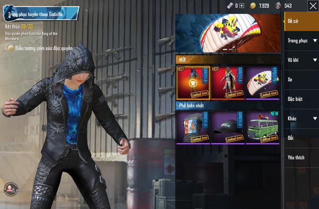 Ăn theo Godzilla, PUBG Mobile cho gamer quay trang phục Vua Quái Thú khá ngầu lòi và đẹp mắt - Ảnh 3.