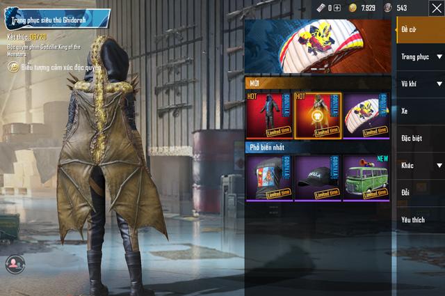 Ăn theo Godzilla, PUBG Mobile cho gamer quay trang phục Vua Quái Thú khá ngầu lòi và đẹp mắt - Ảnh 7.