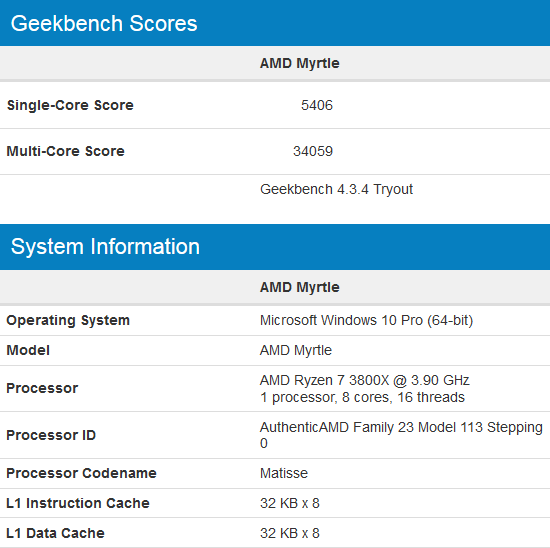 Lộ điểm số của AMD Ryzen 7 3800X - CPU 8 nhân chiến game ngon bổ rẻ thật khó để bỏ qua - Ảnh 1.