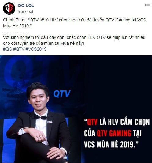 LMHT: Không cần thi đấu, QTV vẫn sẽ là đầu tàu của QTV Gaming mùa tới trong vai trò HLV - Ảnh 1.
