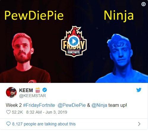Pewdiepie quay lại với Fortnite, kết hợp cùng Ninja tham gia giải đấu - Ảnh 2.