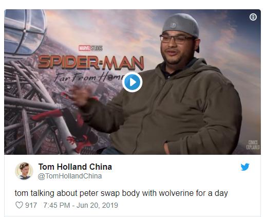 Tom Holland muốn Spider-Man... hoán đổi thân xác với Wolverine trong một thời gian ngắn - Ảnh 1.
