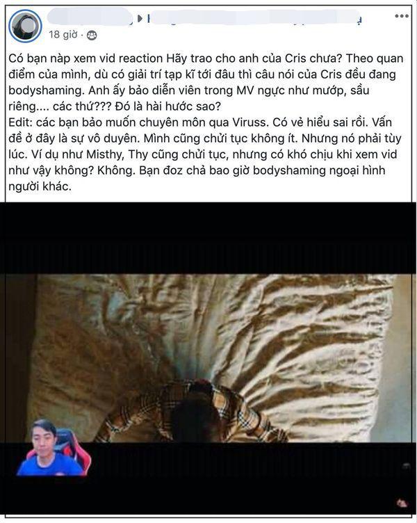 Nhận xét khiếm nhã về mẫu nữ trong MV Hãy Trao Cho Anh, Cris Devil Gamer bị cộng đồng chỉ trích thậm tệ - Ảnh 4.