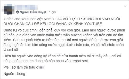Giả vờ tự tử và viết Đơn Xin Chết để câu subs, Youtuber Việt nhận mưa gạch đá từ cộng đồng mạng - Ảnh 3.