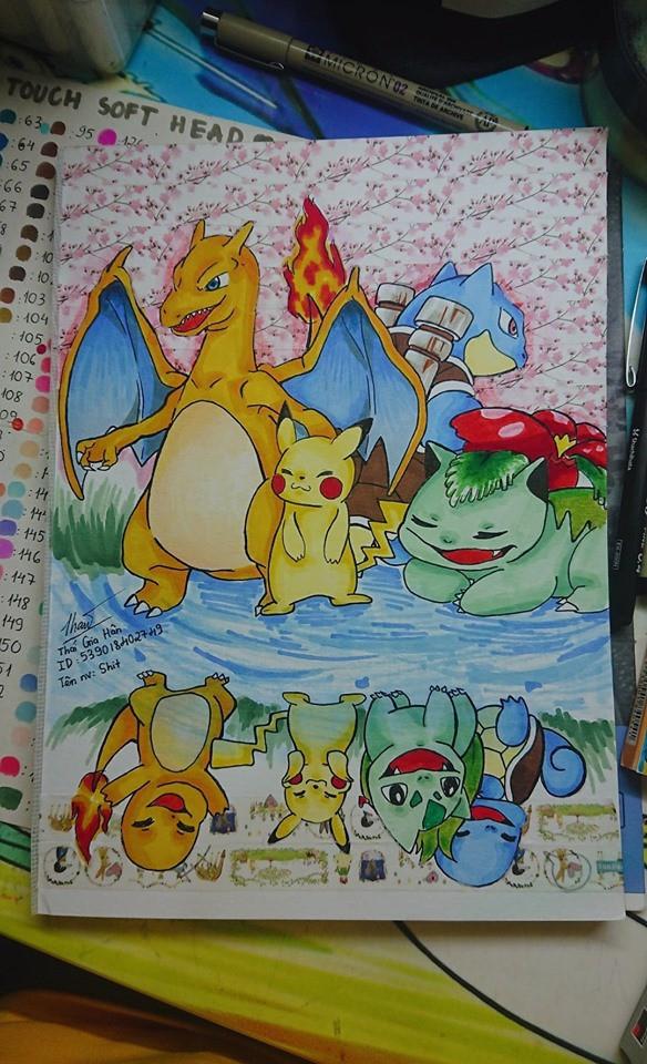 Fan Pokemon mà nhìn thấy bức tranh này chắc chắn thích mê, ăn gì mà vẽ đẹp kinh! - Ảnh 1.