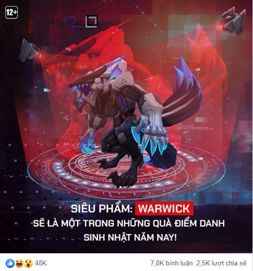 LMHT: Game thủ Việt được tặng miễn phí trang phục Siêu Phẩm Warwick mừng sinh nhật LMHT - Ảnh 4.
