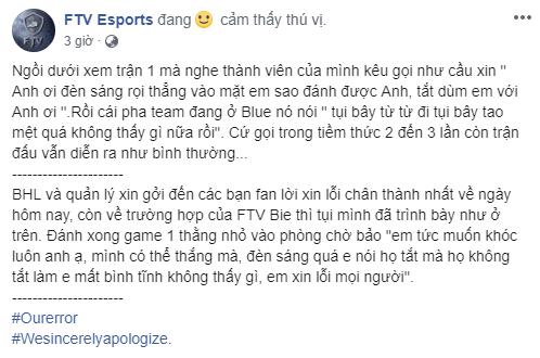 LMHT: Thua đau GAM Esports, tuyển thủ FTV lại dính phốt vạ miệng ám chỉ Ban tổ chức VCS thiên vị - Ảnh 4.