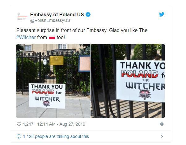 Nhờ chơi The Witcher 3, game thủ chiến thắng bệnh ung thư và treo biển cảm ơn trước đại sứ quán Ba Lan - Ảnh 2.