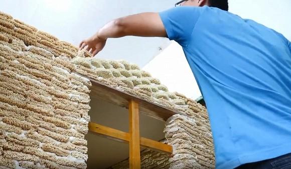 Áp dụng phong cách NTN, xây nhà bằng 2000 gói mỳ tôm, người đàn ông bị cộng đồng mạng chỉ trích dữ dội - Ảnh 3.