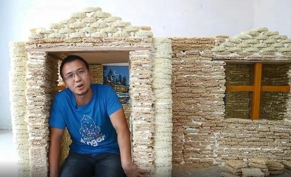 Áp dụng phong cách NTN, xây nhà bằng 2000 gói mỳ tôm, người đàn ông bị cộng đồng mạng chỉ trích dữ dội - Ảnh 5.