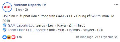 LMHT - Chung kết VCS hè 2019: GAM Esports gặp tổn thất lớn về nhân sự trước trận đại chiến Team Flash - Ảnh 1.