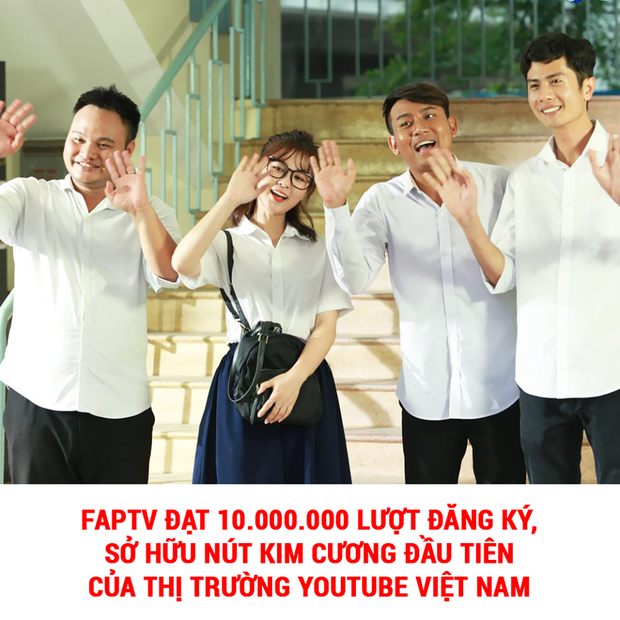 Đạt 10 triệu lượt theo dõi trên Youtube, FAP TV xác lập kỷ lục kim cương ở Việt Nam - Ảnh 1.