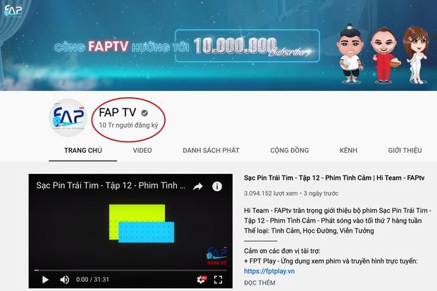 Đạt 10 triệu lượt theo dõi trên Youtube, FAP TV xác lập kỷ lục kim cương ở Việt Nam - Ảnh 2.