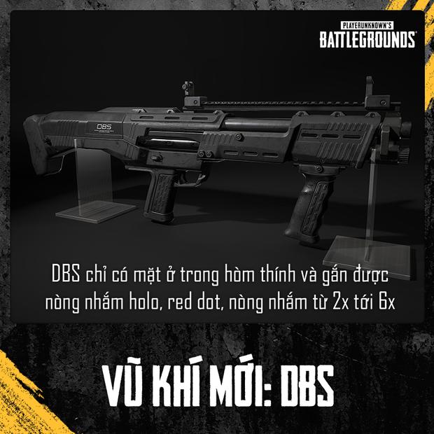 Sức mạnh khủng khiếp của DBS - Siêu vũ khí xịn nhất của PUBG nằm trong hòm thính - Ảnh 1.
