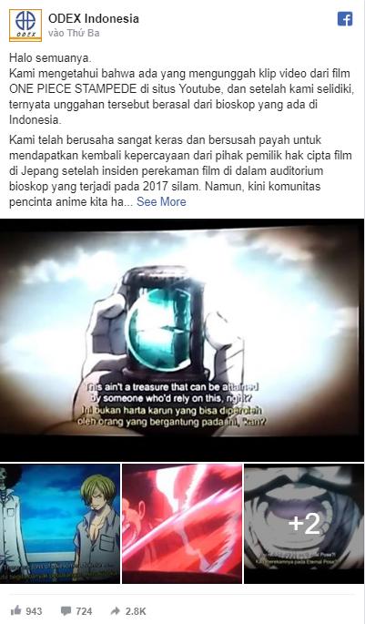 One Piece: Stampede liên tục bị quay lén và đăng tải lên YouTube - Ảnh 1.