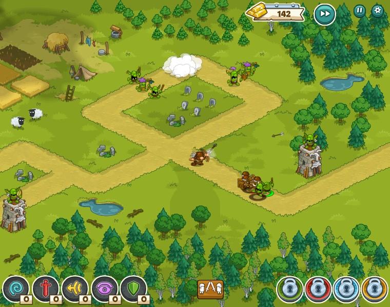 Tower and Mystoria - Game thủ thành vui nhộn trên MXH Facebook 2