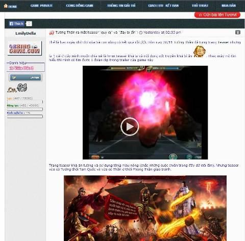 Game thủ Việt tranh cãi về bối cảnh game Tướng Thần 3