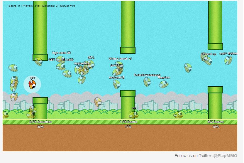 Xuất hiện game online Flappy Bird cho phép chơi cùng nhiều người 1