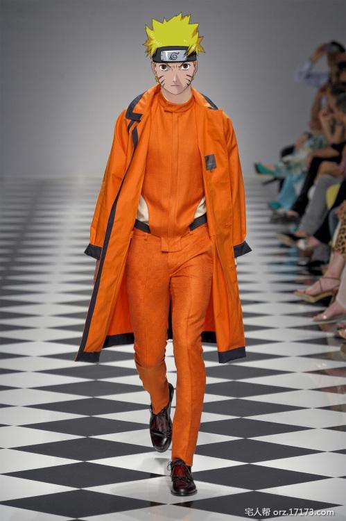 Khi Naruto đi trình diễn thời trang ngoài đời thực