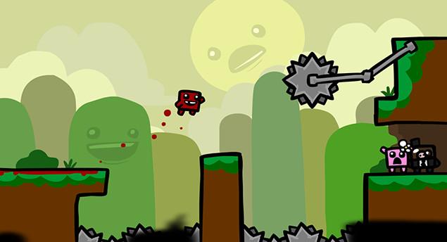 Đừng để đồ họa ngộ nghĩnh đánh lừa, Super Meat Boy là một tựa game rất dễ gây ức chế cho người chơi.