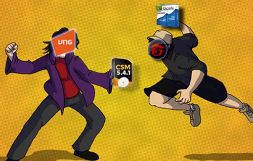 """Cuộc chiến giành thị phần giữa Gcafe và CSM đang diễn ra vô cùng quyết liệt và nó cũng đã tiêu tốn không ít """"giấy mực"""" của giới báo chí."""