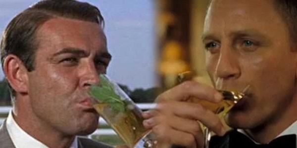 Bond tiêu thụ một lượng rượu rất lớn