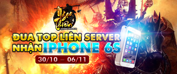 """Sự kiện """"Đua top liên server – Nhận iPhone 6S"""""""