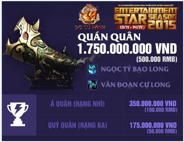 Entertainment Star Season 2015 – đấu trường quốc tế dành cho game thủ Việt