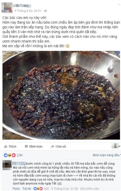 """Mải chơi game khi nấu ăn, chàng game thủ Việt có nguy cơ """"nát đít"""""""