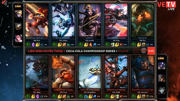 Hai đội hoàn thành quá trình cấm chọn cho game 3.