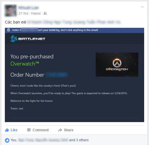Dù tốn 1,2 triệu, hàng loạt game thủ Việt vẫn đổ xô mua Overwatch trước ngày mở cửa