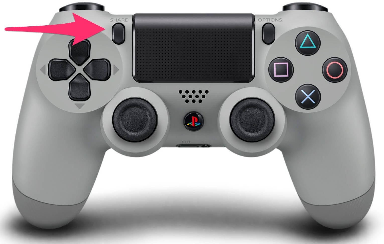 Nút share trên tay cầm PlayStation 4