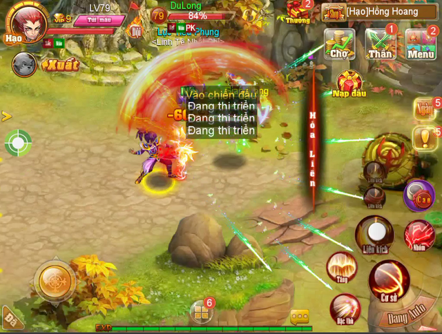Hình ảnh trong tựa game Cửu Dương Thần Công, sản phẩm do SohaGame phát hành tại Việt Nam