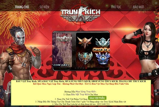 Một trang Web lừa đảo game thủ Truy Kích được mở ra