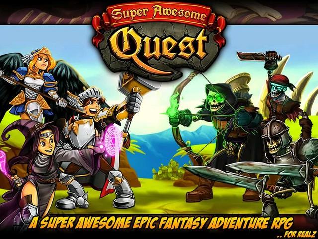 """Super Awesome Quest - Game JRPG kết hợp thẻ bài """"lật gạch"""" mới lạ"""