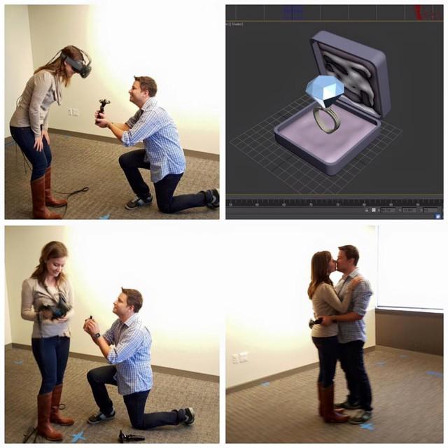 Nhân viên Valve cầu hôn bạn gái bằng kính thực tế ảo