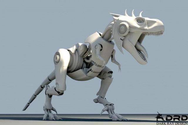 Hình dạng nguyên mẫu của chiếc máy tính khủng long bạo chúa.