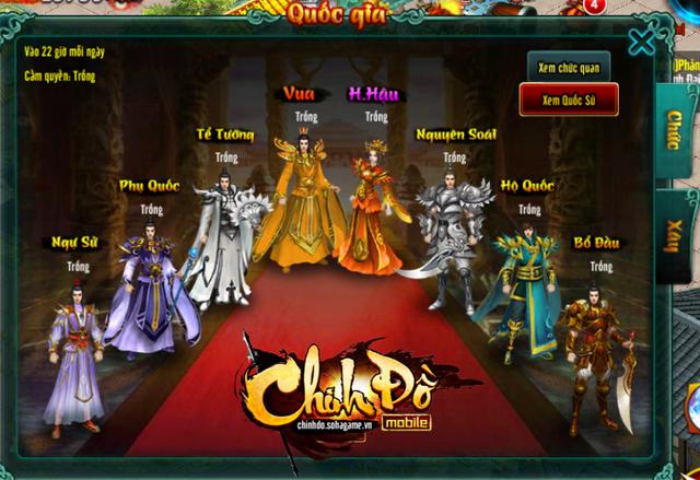 Trở thành Hoàng Đế - Tính năng thu hút hàng triệu game thủ tìm đến Chinh Đồ Mobile tại quê hương Trung Quốc.