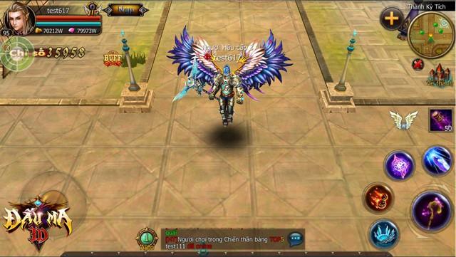 Các loại cánh trong Đấu Ma 3D khá đẹp và mang hơi hướng MU Online