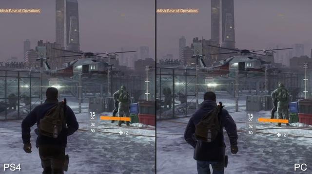 So sánh đồ họa bom tấn The Division trên PS4 và PC